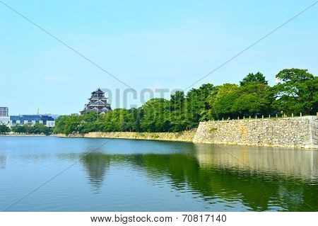 Hiroshima Castle In Hiroshima, Japan Dating From 1590