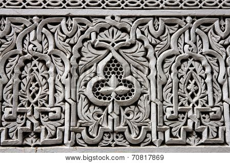 Detail From Building In Rabat, Morocco