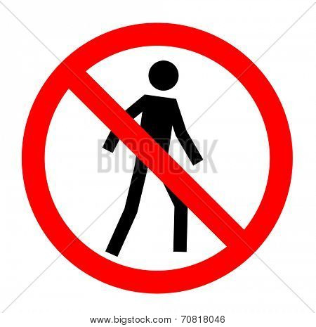 Not allowed, No entry sign, vector, eps10.