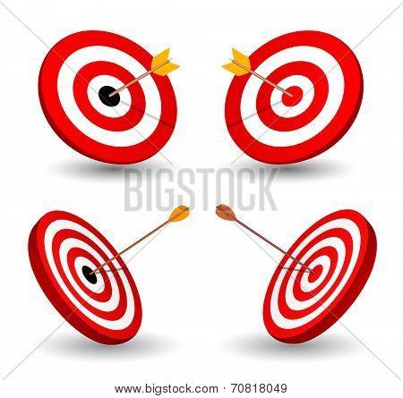 Set of target, symbol of winning, eps10.