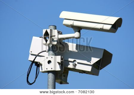 big and small supervise security CCTV camera