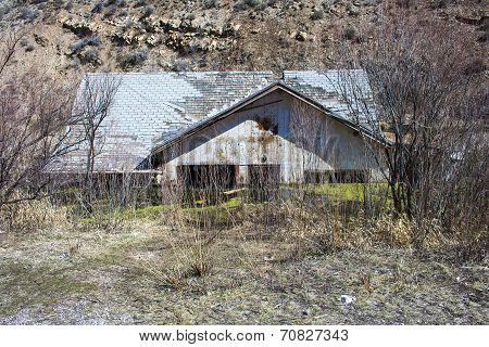 Sunken House Front