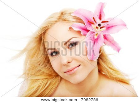 Clean Female Face Lilium