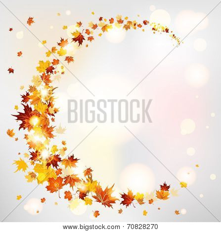 Beautiful autumn background with copy space. Raster version.