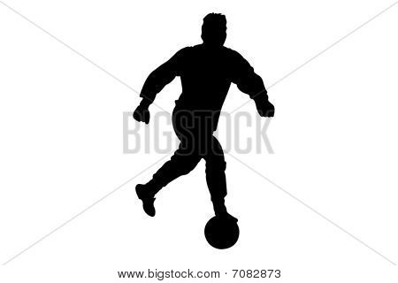 Vector illustration of football player's