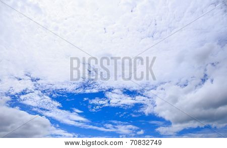 Blue Sky And White Cloud As The Softbox In The Sky