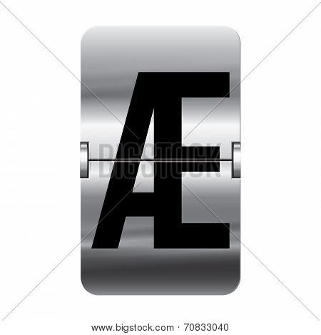 Silver Flipboard Letter - Departure Board - æ