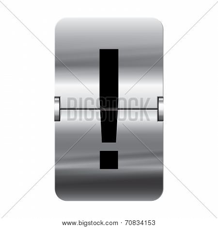 Silver Flipboard Letter - Departure Board - Exclamation Mark
