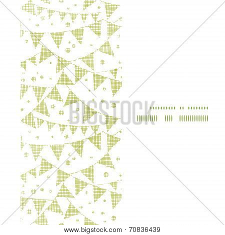 Green Textile Party Bunting Vertical Frame Seamless Pattern Background