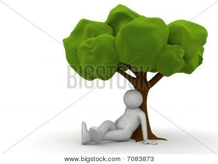 Sitting Under The Tree