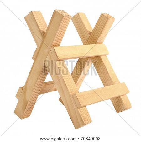 Wooden sawbuck