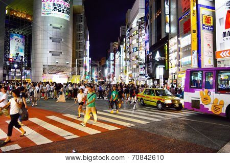 Centre Of Shibuya, The Most Important Commercial Center In Tokyo