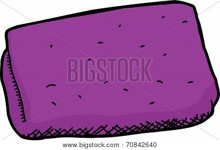 Isolated Purple Washcloth