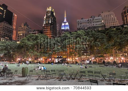 Bryant Park, New York, Night