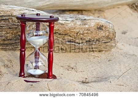 sand timer in sand