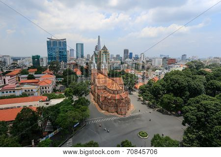 Notre Dame Cathedral ( Saigon Notre-Dame Basilica )  in the downtown of Ho Chi Minh City, Vietnam