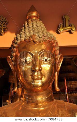 Buddha Brass Head Face