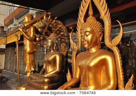 Group Buddha Brass Various
