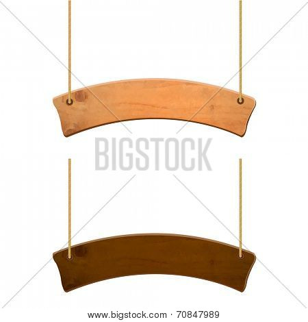 Wooden Sign Set, Vector Illustration