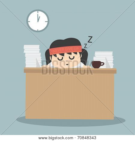 Businessman Falling Asleep