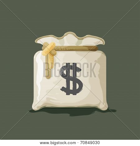 Money bag with dollar sign vector illustration