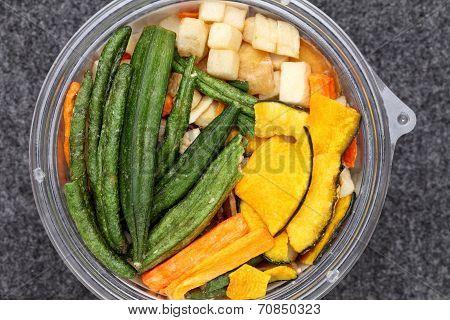 Mixture of dried vegetable