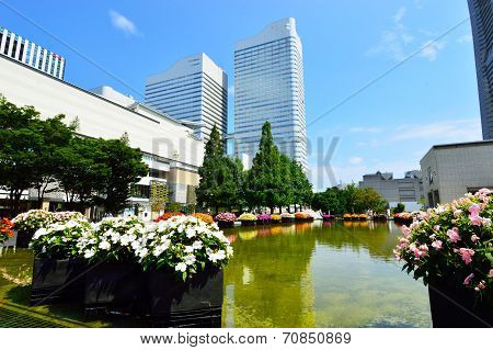 View Plaza Landmark Tall Buildings In Yokohama, Japan