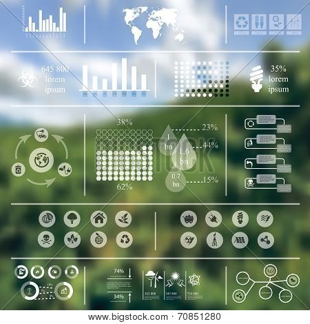 Ecology Infographics blurred background