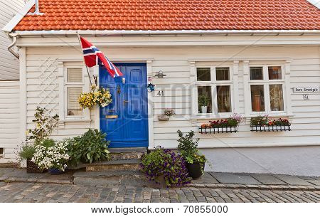 House In Gamle (old) Stavanger, Norway