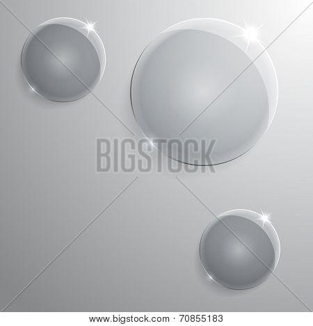 round glass frame.  illustration.