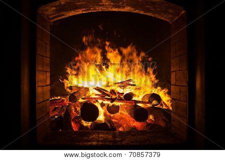 Fire In Furnace