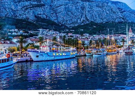 Makarska by night