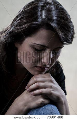 Beautiful Crying Woman