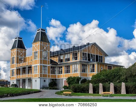 Historic Old Wooden House In Lysekil, Sweden