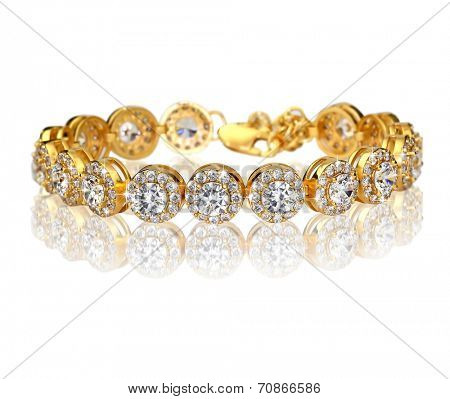 Best gold bracelet with diamonds