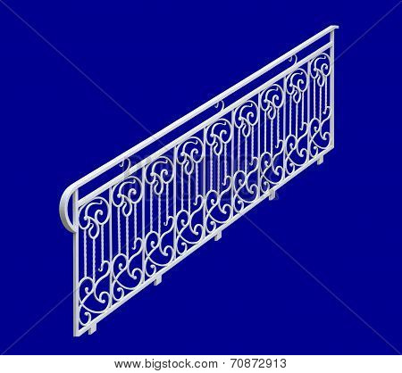 Decorative White Railing.