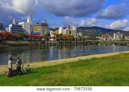 The Ota River in Hiroshima