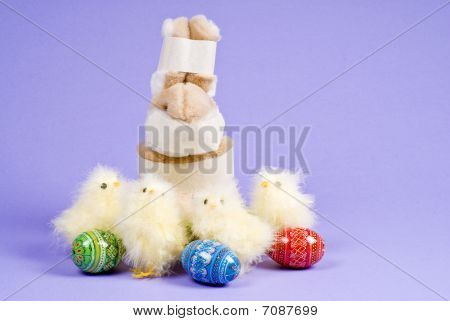 Stuffed Bunny Caught Stealing Easter Eggs