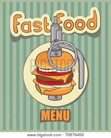 Fast-food menu