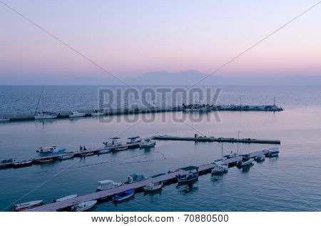 Twilight On The Thermic  Gulf, Chalkidiki, Greece