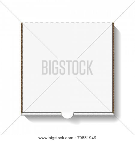 Cardboard pizza box for your design. Vector.