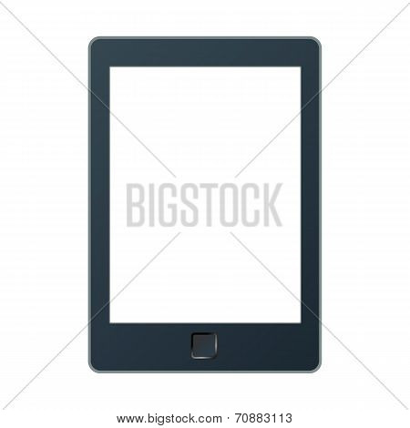 Portable E-book Reader With Two Clipping Path For Book And Screen.