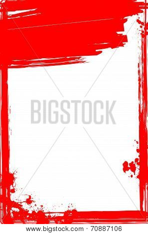 Grungy Bloody Frame For Your Design