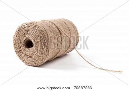 Roll Of Sisal Rope Isolated On White