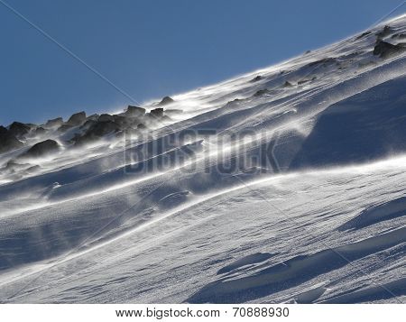 Blizzard On The Mountain Hill