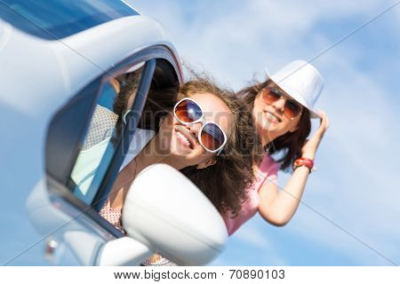 young attractive woman in sunglasses