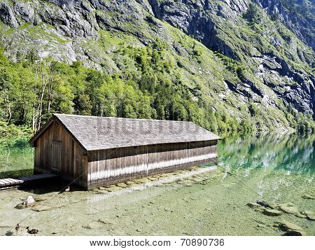 Boathouse At Lake Obersee