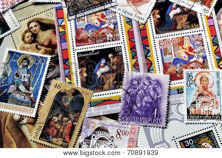 Religion on stamps
