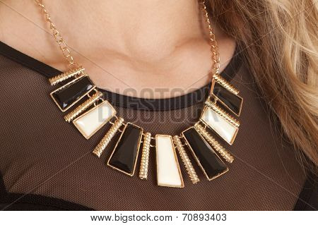 Necklace Black Gold