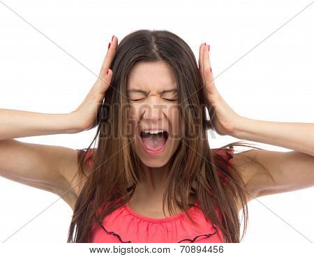 Woman Upset Screaming Or Yelling